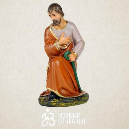 STATUE DE LA VIERGE MARIE EN MARBRE ATELIER JS BRUNET  3714 1