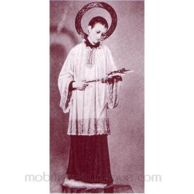 Personnage de crèche : Vierge Marie, en  plâtre coloré