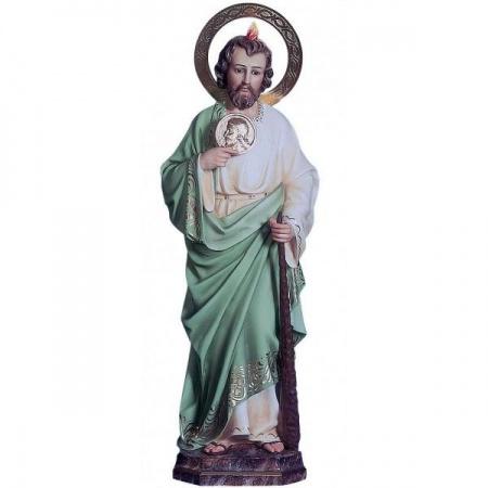 Personnage crèche en bois décoré Saint Joseph