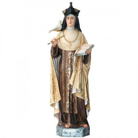 Statue Saint Joseph et l'Enfant J�sus en bois d�cor�