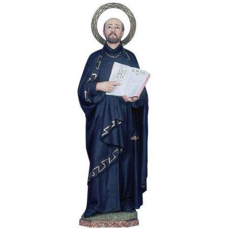 statue saint joseph et enfant jésus en bois naturel