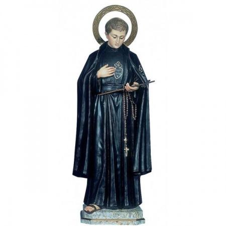 statue de la vierge a l'enfant avec couronne en bois trois tons bruni