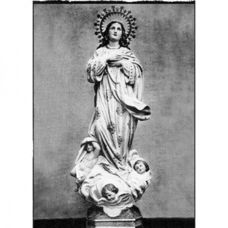 Statue Vierge Miraculeuse en marbre blanc