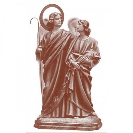 Statue Vierge Miraculeuse, en marbre blanc