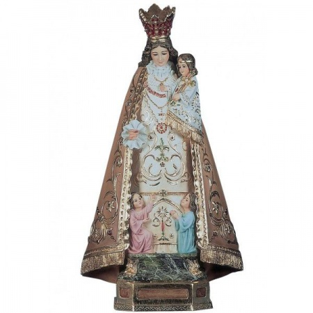 statuette ange gardien design en bois naturel