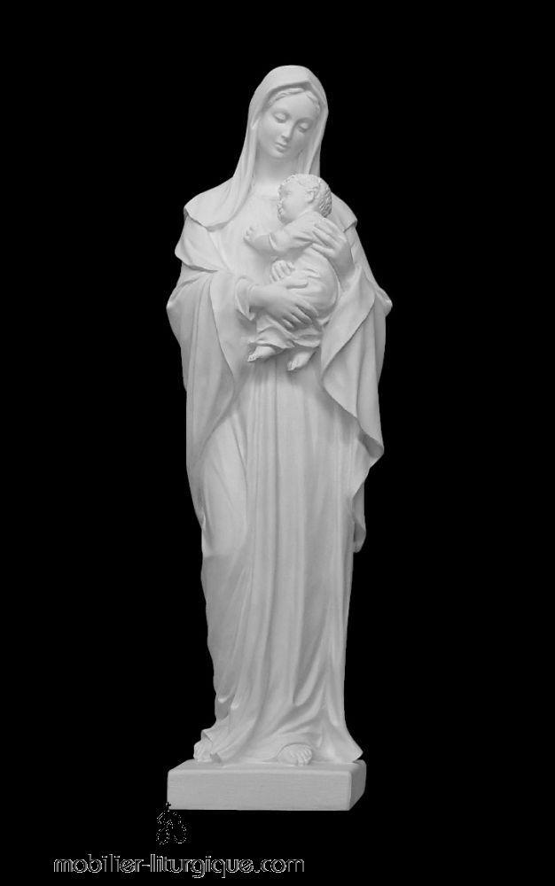 Statue-Vierge-Enfant-marbre-ML070006