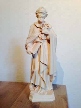 statue de st pierre  entier bois naturel 3STP
