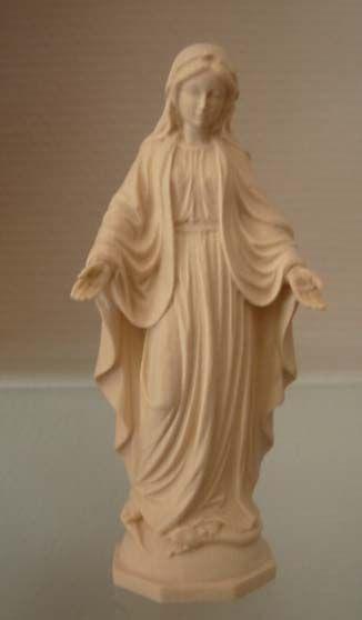 statue de la vierge en bois naturel4341