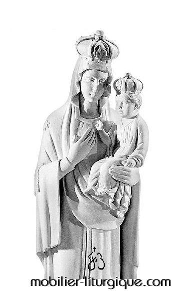 Statue-Vierge-Consolation-marbre-STEX0103-détail