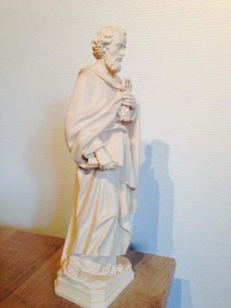 statue st pierre bois naturel 1STP