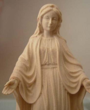 statue de la vierge immaculée en bois4342