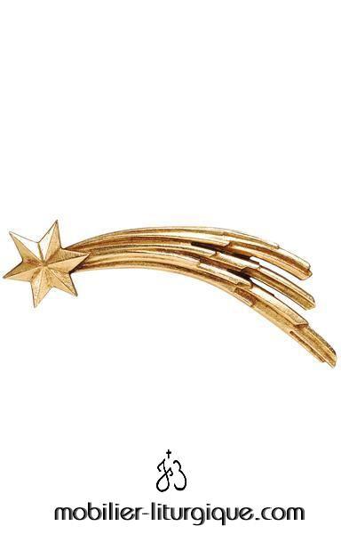 accessoire pour crèche : l'étoile de Bethléem en bois coloré
