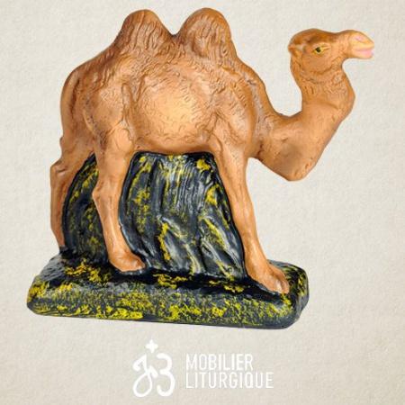 Animal dela crèche : Chameau, en plâtre coloré