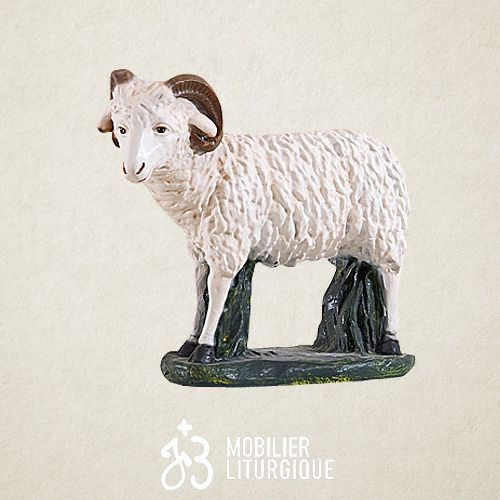Animal pour crèche de 85 cm : Bélier x 2