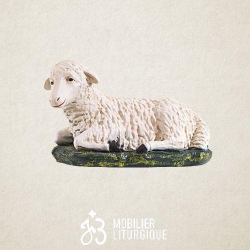 Animal pour crèche de 85 cm : Mouton couché x 2