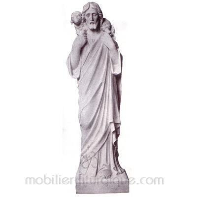 Christ le Bon Pasteur : statue sur mesure