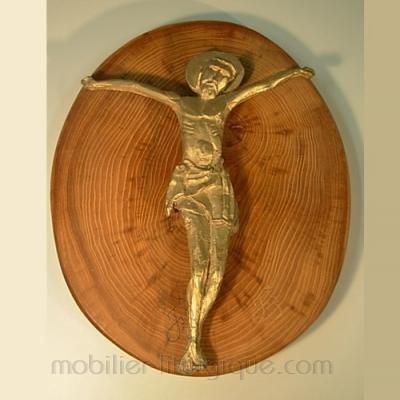 Christ sur plaque en bois