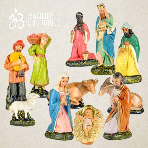 Crèches personnages animaux hoftiere d/'ovins 15 pces pour personnages 8-11 cm