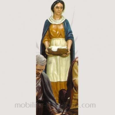 Femme portant un linge