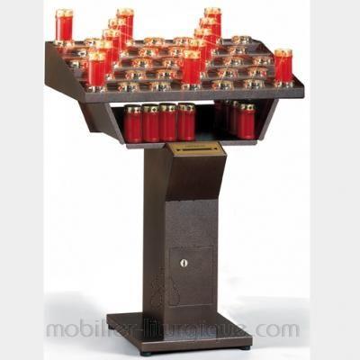 Porte cierge electrique 33 bougies