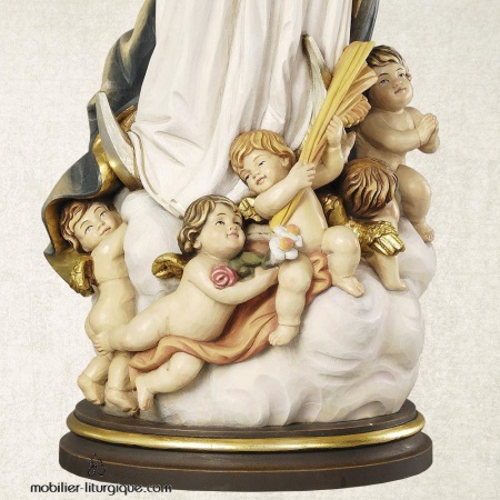 statue assomption vierge marie bois