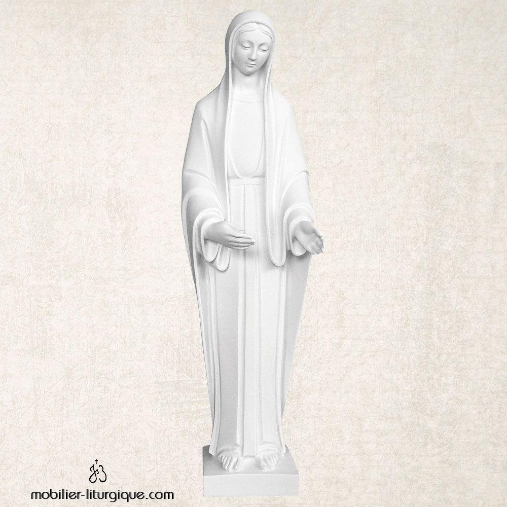 Statue de la Vierge en marbre blanc