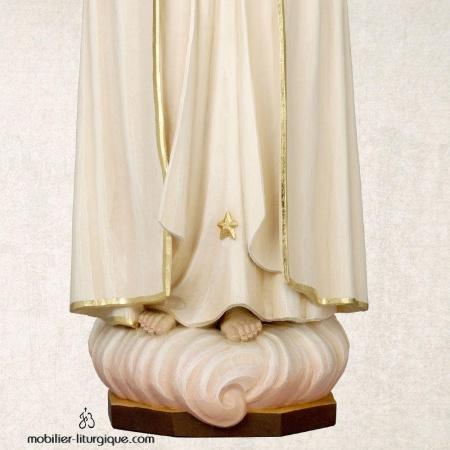 Statue Notre Dame de Fatima bois coloré