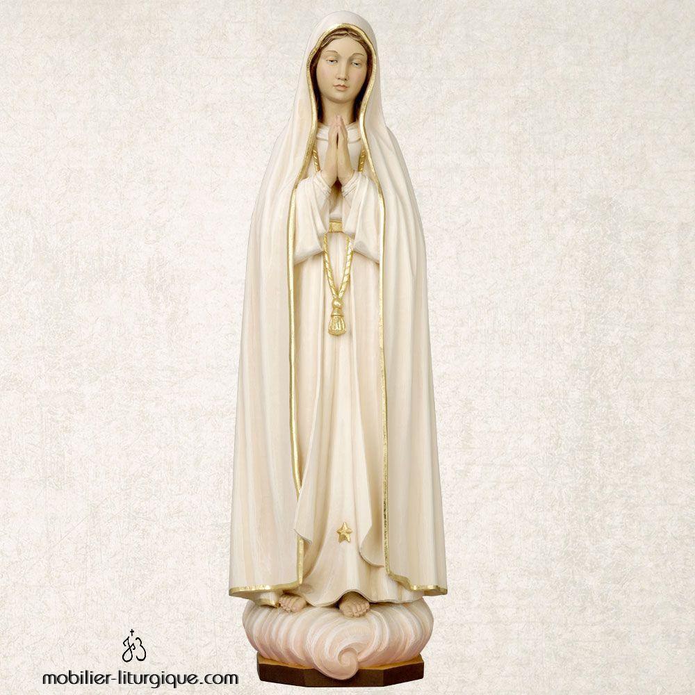 Statue Notre Dame de Fatima en bois