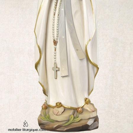 Statue Notre Dame de Lourdes bois décoré