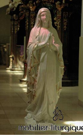 Statue Notre Dame de Lourdes Décorée