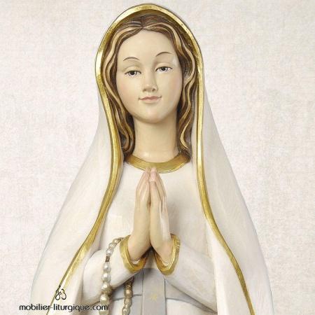 Statue Notre Dame de Lourdes en bois