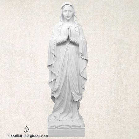 Statue Notre Dame de Lourdes en marbre blanc