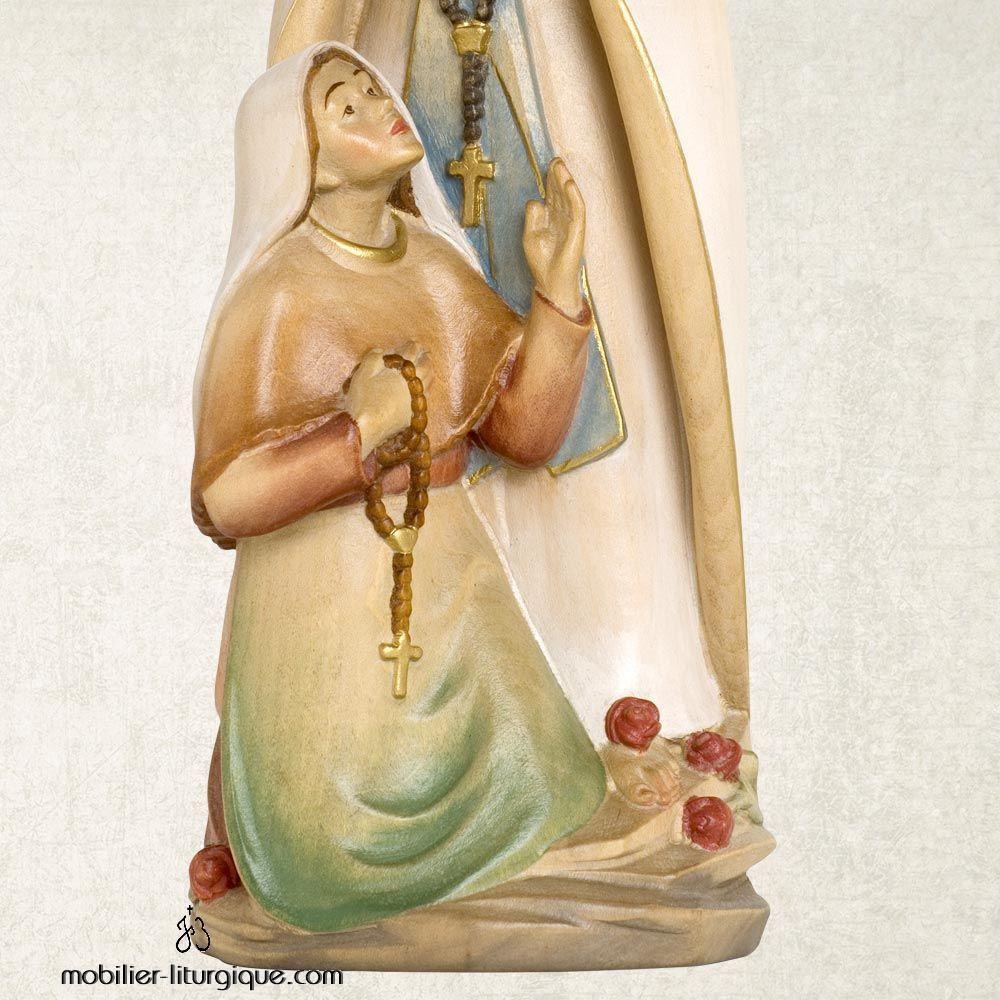 Statue Sainte Bernadette et Notre Dame de Lourdes en bois