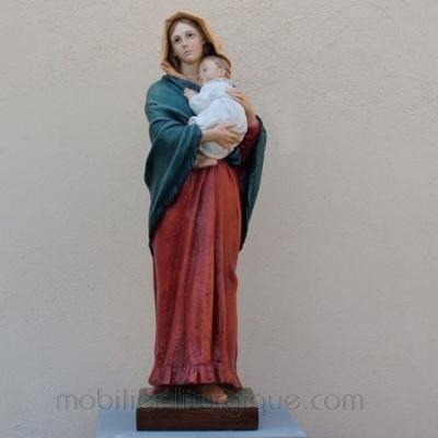 statue vierge à l'enfant