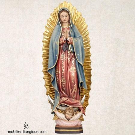 Statue Vierge de Guadeloupe en bois