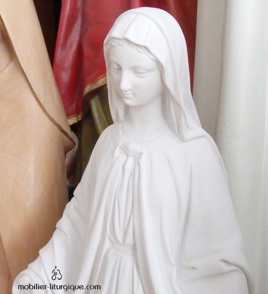 Statue Vierge miraculeuse en marbre